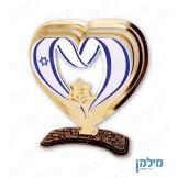 מעמד לב עם סמל יחידה